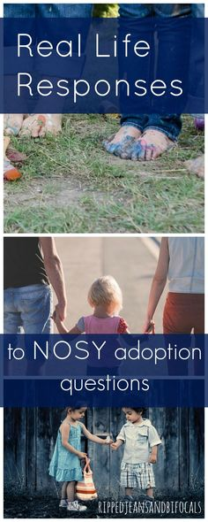 """There's a difference between """"just curious"""" and rude. Here's how one mom responds to nosy adoption questions. 