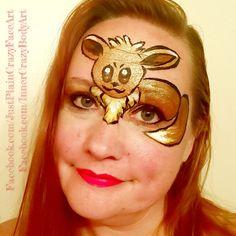 Pokémon Go- Eevee Face paint design Pokémon  Artist - Marie Sulcoski