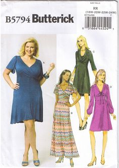 Flattering Plus Size Raised Waist Dresses. Never settle for a great look. This sewing pattern is available in my ebay store.