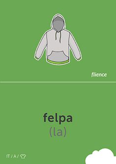 Felpa #CardFly #flience #clothes #italian #education #flashcard #language
