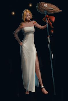 Concept art class: final painting Concept Art, One Shoulder, White Dress, Formal Dresses, Painting, Fashion, Conceptual Art, Moda, White Dress Outfit