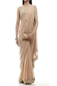Sari-Blouse-Indian-Designer-Saree-Indian-ethnic-Gold-Stylish-Elegant-Different-a
