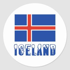 Shop Iceland Flag and Name Snow Classic Round Sticker created by flagnation. Iceland Flag, Political Events, National Flag, Culture Travel, Round Stickers, Custom Stickers, Flags, Activities For Kids, Pdf
