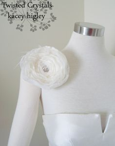 Large flower filled with vintage Swarovski crystals.  www.KaceyH.com