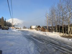 Waterfront Dr. Carcross Yukon, foggy morning!