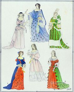 French baroque costumes under Louis XIV 1643-1715.