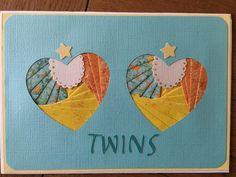 Iris folded Baby Heart Twins