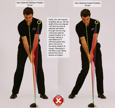 Optimal Address and Optimal Impact Position 8 Iron Golf Driver Swing, Golf Drivers, Golf Basics, Golf Stance, Golf Putting Tips, Golf Photography, Golf Umbrella, Golf Videos, Golf Instruction