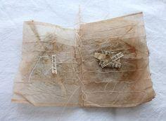 teabag hymn book on Behance Tea Bag Art, Tea Art, Coffee Filter Art, Collages, Fabric Journals, Handmade Books, Altered Books, Texture Art, Book Making