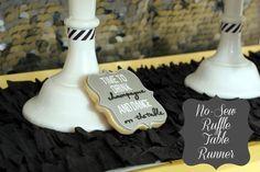DIY No-Sew Ruffle Table Runner