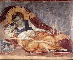 Εμμανουήλ  Πανσέληνος,14ος αιώνας.Panselinos,Χριστός Αναπεσών