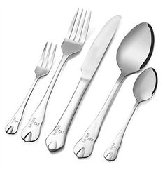 20-Piece Flatware Set,Simlife Stainless Steel Cutlery Set,Dinnerware with Mirror Polishing,Tableware for Home Kitchen or Restaurant(Cutlery Service for 4)-B23