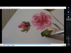 Легко рисуем розы акрилом.Roses in acrylic, one stroke technique. - YouTube