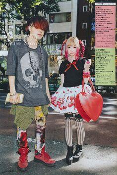 Japanese Street Fashion, Tokyo Fashion, Harajuku Fashion, Korean Fashion, Korea Street Style, Tokyo Street Style, Japanese Streetwear, Punk, Visual Kei