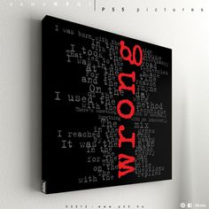 "AWESOME. (Depeche Mode - Wrong No.1 - 55 x 55 cm (21,6"" x 21,6""). €60.00, via Etsy)"