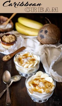 This no-bake creamy Caribbean dessert is whipped up quickly and with just a few simple ingredients for an instant summer in a bowl. Carribean Desserts, Carribean Food, Caribbean Recipes, Caribbean Party, Indian Dessert Recipes, Desert Recipes, Desserts With Few Ingredients, Easy No Bake Desserts, Healthy Desserts
