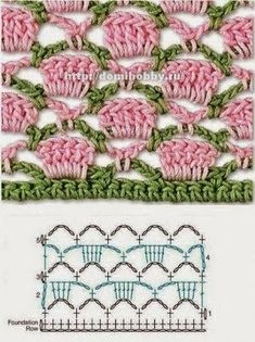 Watch This Video Beauteous Finished Make Crochet Look Like Knitting (the Waistcoat Stitch) Ideas. Amazing Make Crochet Look Like Knitting (the Waistcoat Stitch) Ideas. Crochet Stitches Chart, Crochet Borders, Crochet Diagram, Crochet Motif, Knitting Stitches, Crochet Designs, Knitting Patterns, Crochet Patterns, Afghan Crochet