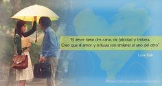 Porque como el amor, la lluvia puede tener por caras la felicidad,y tristeza Love Rain :)