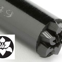 KS-049-Orchid Flower 10 mm acrylic stamp by Kor Tools.