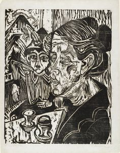 Ernst Ludwig Kirchner (German, 1880–1938) Peasant Woman with Boy at Table (Bäuerin mit Knaben am Tisch)