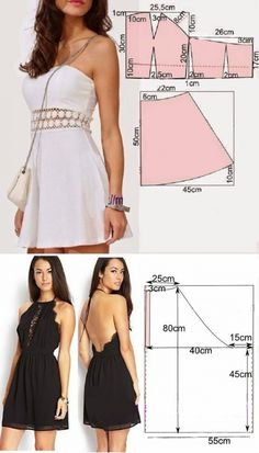 The familiar tailor shared simple patterns of stylish dresses! It will turn out even at beginners Fashion Sewing, Diy Fashion, Fashion Dresses, Dress Sewing Patterns, Clothing Patterns, Sewing Clothes, Diy Clothes, Costura Fashion, Clothing Hacks