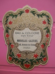 1 Ancienne Etiquette Parfum Antique Perfume Label French Paris Profumo Label | eBay