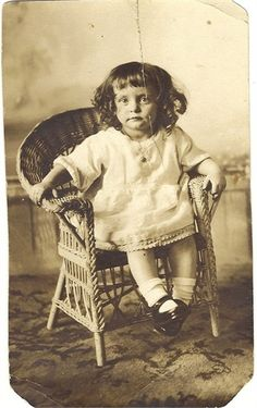 I love this of my mother at 2 years.