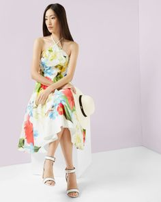 Ted Baker Forget Me Not halter neck dress Dress Outfits, Casual Dresses, Fashion Outfits, Ted Baker, Evening Dresses, Prom Dresses, Luxury Dress, Dresses For Sale, Designer Dresses