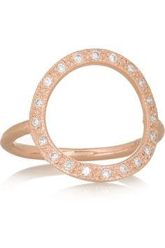 Brooke Gregson 18-karat rose gold diamond ring  NET-A-PORTER.COM