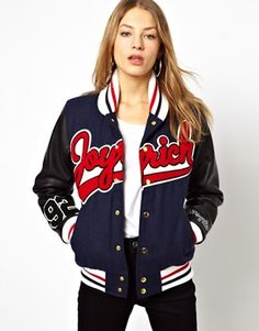 Joyrich Mascot Varsity Jacket at ASOS. Sport Fashion, Cute Fashion, Womens Fashion, Sport Chic, Sport Casual, Pretty Outfits, Cool Outfits, Latest Fashion Clothes, Fashion Outfits