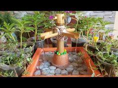 Bamboo Water Fountain, Diy Fountain, T Craft, Craft Work, Diy Projects Cement, Cactus E Suculentas, Ceramic Decor, Terracotta, Ceramics