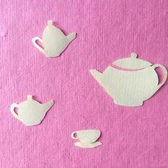 Teaparty paper collage illustration @harakrankkila