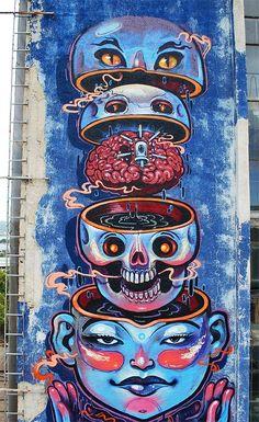 NASIMO – Girls and cats. DESIGNWARS - Inspiration Daily Graffiti Art, ArtDESIGNWARS Street - Inspiration Daily Graffiti Art, Street Art