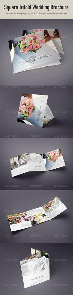 Square Trifold Wedding Brochure