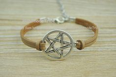 Supernatural Inspired braceletretro silver by HandmadeTribe, $1.99 Fashion handmade leather jewelry