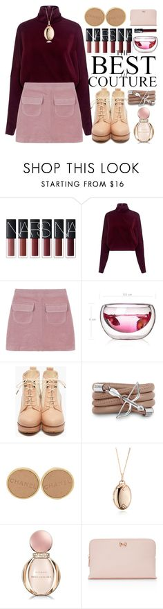 """""""93"""" by erohina-d ❤ liked on Polyvore featuring McQ by Alexander McQueen, Monza, Chanel, Monica Rich Kosann, Bulgari, Ted Baker and NARS Cosmetics"""