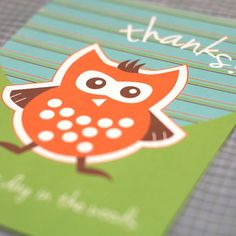 Woodland Party Thank You Card