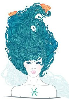 Photos and vector illustrations by photographer Varvara Gorbash. PISCES