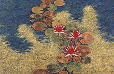 Art Koi, Art Inspo, Lotus Painting, Art Chinois, Traditional Japanese Art, Art Asiatique, Art Japonais, Japanese Painting, Resin Art