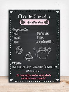 Chalkboard Chá de Cozinha