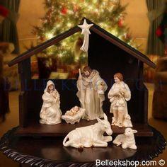 Belleek Nativity Crib Set - Christmas Nativity