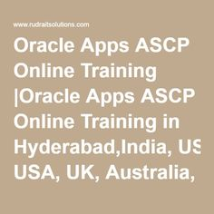 Oracle Apps ASCP Online Training |Oracle Apps ASCP Online Training in Hyderabad,India, USA, UK, Australia, New Zealand, UAE, Saudi Arabia,Pakistan, Singapore, Kuwait.-Rudra It Solutions
