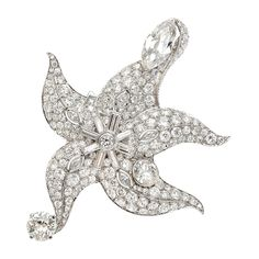 A Diamond Starfish Brooch by Paul Flato, circa 1938