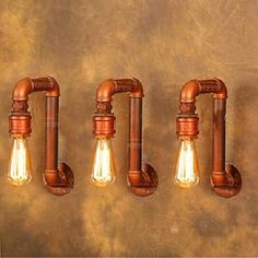 amerikanischen Industrie Dorf Wandleuchten kreative retro Wasserleitung Lampen 220--240v 2016 - R$342.86