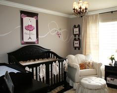 Celebrity Nursery - A French Parisian Nursery in pink and brown