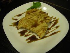 Pastel frito de creme de cupuaçu com melado de cana de açúcar