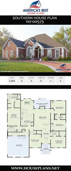 s Best House Plans besthouseplans Southern House Plans A beautifully crafted Southern house plan displaying all […] room study Best House Plans, House Floor Plans, Southern House Plans, Square Feet, Planer, Home Projects, Guest Room, Beautiful Homes, Cottage