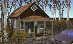 [ Small Cottage House Plans Porches Car Tuning Small Cabin Plans Loft Porch Car Tuning ] - Best Free Home Design Idea & Inspiration Small Modern Cabin, Small Cabin Plans, Small Cottage House Plans, Small Cottage Homes, Cabin House Plans, Cabin Floor Plans, Small Cottages, Cottage Plan, Cabins And Cottages