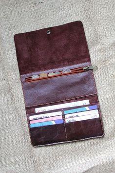 48c51df66 Leather wallet woman - leather purse in BLACK chrometan leather - iPhone  case sleeve + snap - leather clutch and zipper wallet. Carteras De Cuero De  Hombres ...