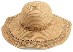 This looks like a great vacation hat. collection eighteen Women`s Spring Solid Floppy Hat $5.48